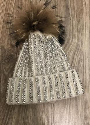 Тёплая шапка с мехом