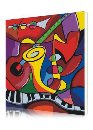 """Картина по номерам """"Музыкальные инструменты"""" набор для творчес..."""