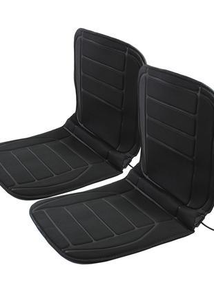 Накидка на два сиденья автомобиля с подогревом Lesko TZ002 Bla...