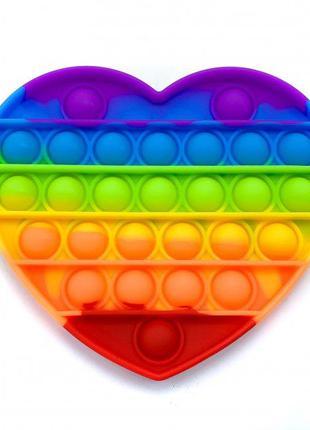 Игрушка-антистресс Pop It Сердце
