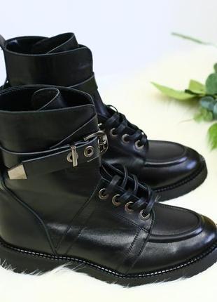 Lux обувь! крутые зимние/деми ботинки женские натуральная кожа...