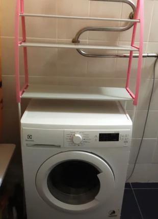 Полка-стеллаж напольный над стиральной машиной (синяя) Washing...