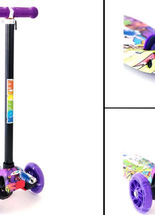 Самокат Micmax для детей Граффити