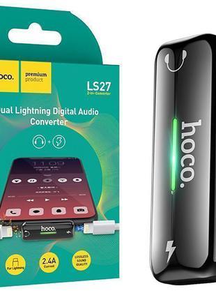 Переходник Hoco LS27 Dual Lightning digital audio converter че...
