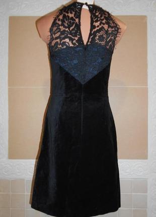 Платье нарядное бархатное с кружевной спинкой
