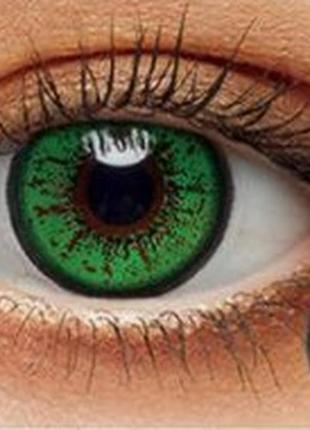 Цветные линзы для глаз bella, зеленые + контейнер для линз в п...