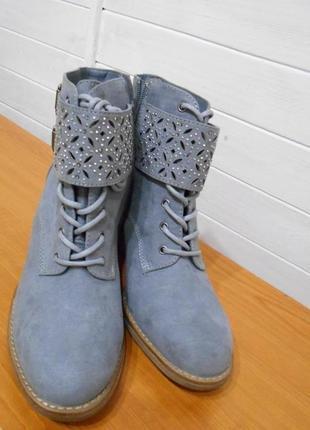 Красивые и яркие весенние ботиночки 25 см
