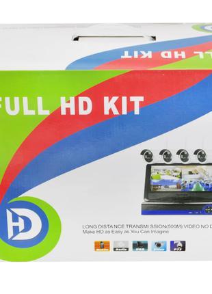 Набор видеонаблюдения (4 камеры) WiFi kit, Регистратор + 4 кам...
