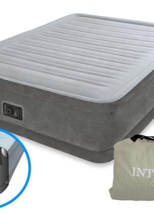 Надувная двуспальная кровать Intex 64414 со встроенным электро...