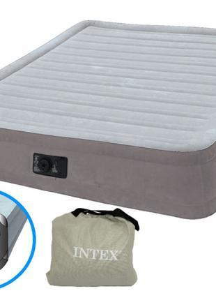 Надувная двуспальная кровать Intex 67770 Comfort (152-203-33 с...