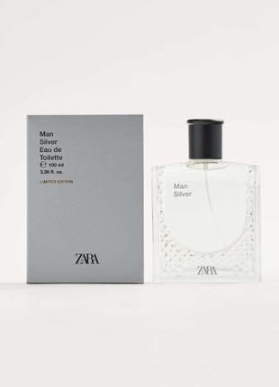 Стойкий аромат для мужчин zara man silver