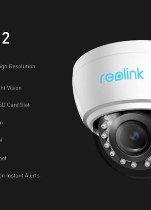 Reolink RLC-422 / 422W Ip-camera 5MP PoE/WiFi 2,4G/5G Micro SD 4x