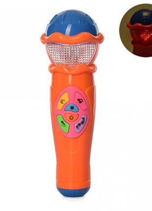 """Музыкальная игрушка """"Микрофон"""" 7043RU 6 мелодий (Оранжевый)"""