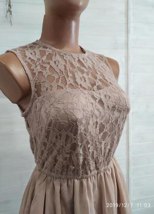 Платье нежное и красивое xs-s