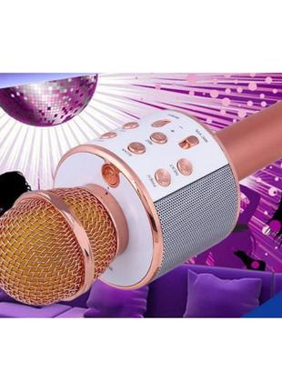Караоке микрофон беспроводной Wster WS858 Pink (1203)