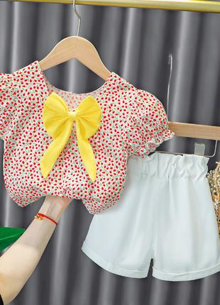 Нарядный летний костюм для девочек