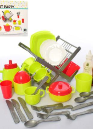 Большой и красивый игровой набор посуды Teapot Party 40 pieces...