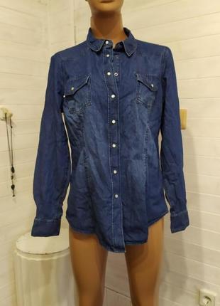 Красивая женская рубашка на кнопочках l\xl