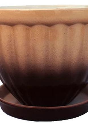 """Горшок цветочный БК """"Гламур"""" (h=17 cm, d=22 cm, V=3,5L)"""