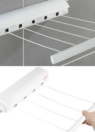 Автоматическая сушилка для белья инерционная настенная раздвижная