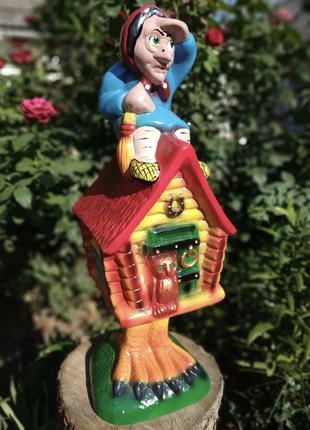 Садовая фигура Избушка и Баба Яга 57 см