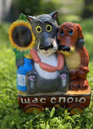 Садовая фигура «Жил был пёс» / «Щас спою» 50см