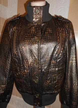 Куртка натуральная кожа- италия m-l