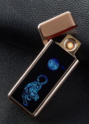 """Зажигалка электрическая сенсорная """"Тигр"""" премиум-класса"""