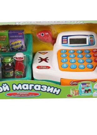 Игровой кассовый аппарат 7254 с корзиной продуктов,Детский игр...