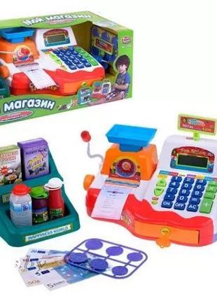 Детский игровой набор Кассовый аппарат 7256 выдает чек
