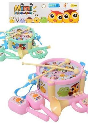 Набор детских музыкальных инструментов 890-27 ,2 вида (барабан...