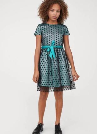 Нарядное атласное платье сетка