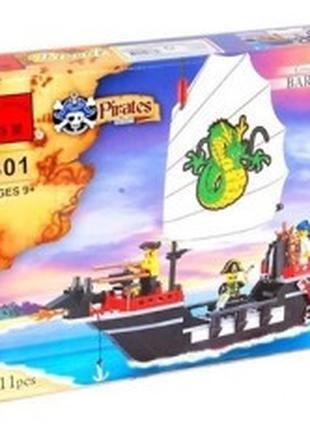 """Конструктор Brick 301 """"Барбара""""пиратский корабль для мальчиков..."""