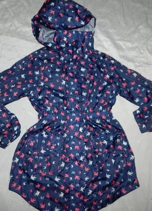 Дождевик ветровка модная на девочку 5-6 лет 116см