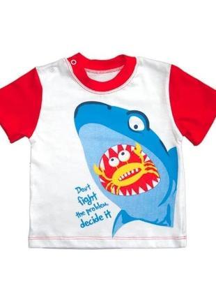 """Футболка для мальчика ясельная """"акула"""""""
