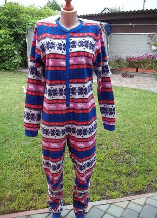 46 р флисовый  комбинезон пижама кигуруми женский