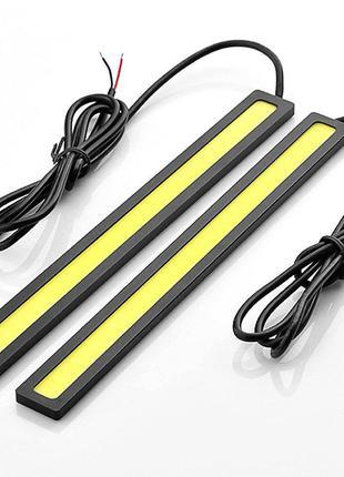 Гибкие дневные ходовые светодиодные огни 2 шт 17см