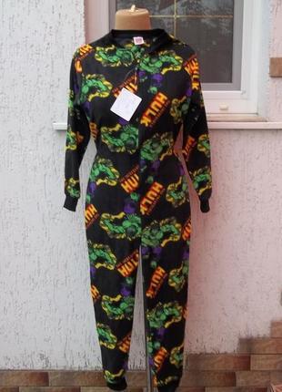 (10-11 лет)  marvel  флисовый комбинезон пижама кигуруми  новый