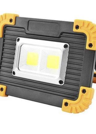 Прожектор светодиодный L812-20W-2COB+1W, ЗУ micro USB, 2x18650...