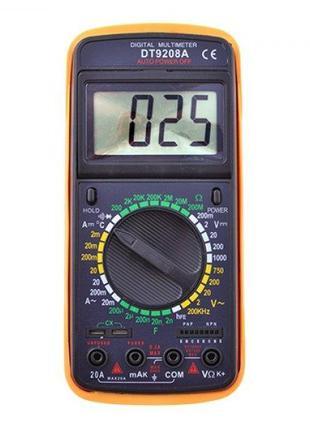 Цифровой тестер, мультиметр DT-9208 A