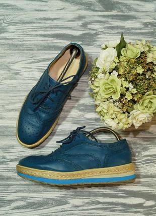 🌿37🌿enny. кожа. классные туфли шнуровке, оксфорды