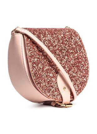 Стильная сумка через плечо розовая h&m cross body кросс боди