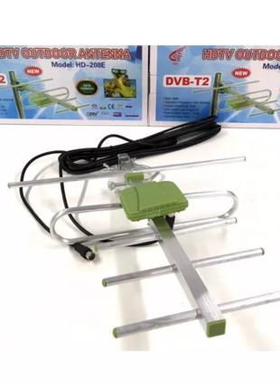 Антенна Цифровая наружная эфирная антенна SO8 DVB-Т2 HD-208E