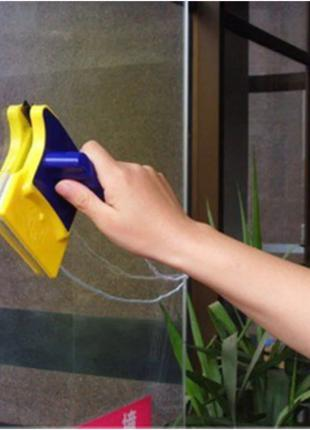 Двусторонняя магнитная щетка для мытья окон Glass Wiper | Магн...