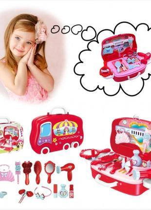 Детский игровой набор Happy Dresser юный парикмахер в чемоданчике