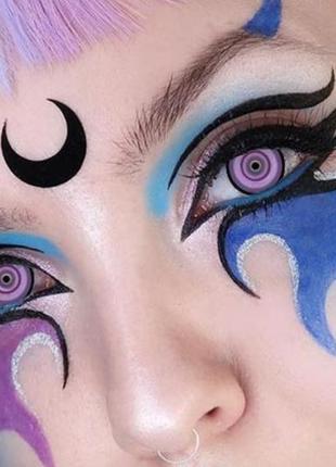 Линзы для глаз сакура, фиолетовые + контейнер для линз в подарок