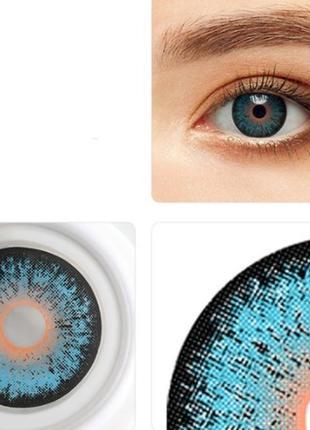 Линзы цветные для глаз хэллоуин, пара + контейнер для линз в п...
