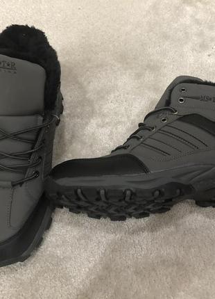 Зимние стильные мужские ботинки на меху