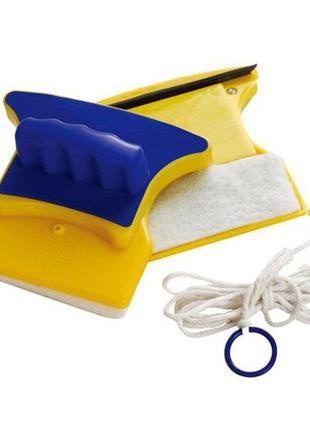 Двусторонняя щетка для мытья окон Double Side Glass Cleaner