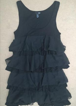 Маленькое чёрное платье в стиле ампир коктейльное платье с рюш...